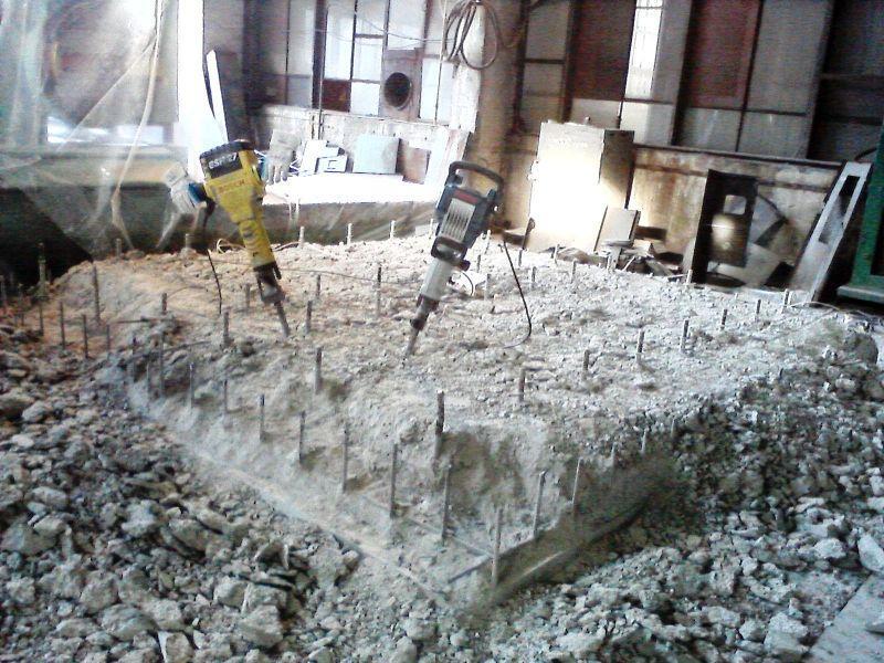 Демонтажные работы. Демонтаж бетона