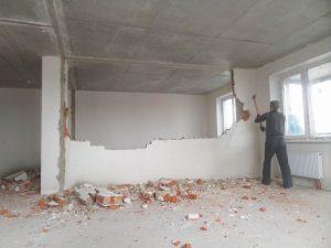 Демонтаж стен. Перепланировка квартиры