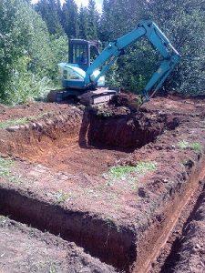 Выкопать фундамент. Земельные работы